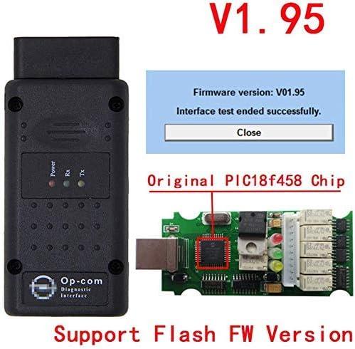 ULTRAOBD2 OPCOM V1.95 PIC18F458 FT232RQ firmware OP-COM For Opel Diagnostic-tool OP COM V1.95 support Hardware update