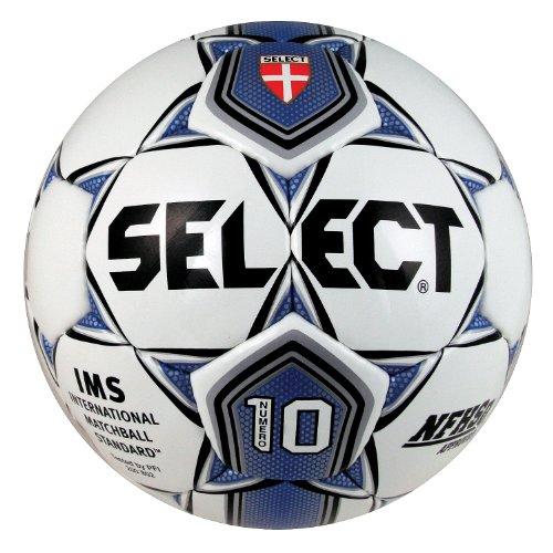 Select Sport America Numero 10 Soccer Ball, 5, White/Royal Blue
