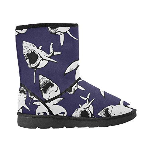 Interestprint Leinterest Shark Snow Boots Moda Scarpe Da Uomo
