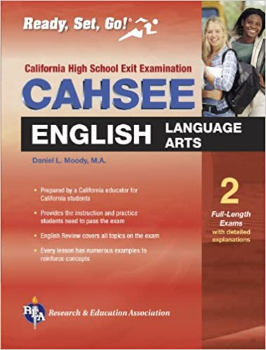 cahsee english language arts rea the best test prep for the california high school exit exam