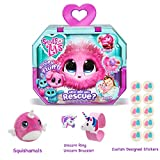 Gift Bundle Little Live Scruff-A-Luvs (Pink) with 3.5 Squishamals and Magic Crystal Slime - By Simple Joy