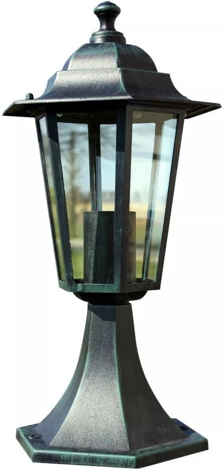 vidaXL Farol de Jardín Aluminio Verde Oscuro 41 cm Mini Farola Patio Lámpara: Amazon.es: Hogar