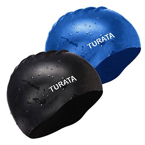 2 pack swimming cap turata waterproof unisex premium for Pack swimming