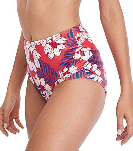 Charmo Women High Waist Bikini Swimsuit Two Piece Ruffle Flounce Lace Up Bathing Suits