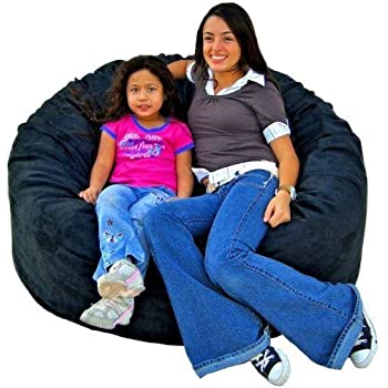 Amazon Com Cozy Sack 4 Feet Bean Bag Chair Large Black