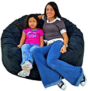 Amazon Com Cozy Sack 4 Feet Bean Bag Chair Large Black