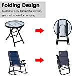 Outsunny 3-Piece Folable Rocking Chair Outdoor