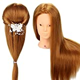 "Neverland Beauty 22"" 60% Real Human Hair Hairdressing Cosmetology Mannequin Manikin Training Head with Clamp"