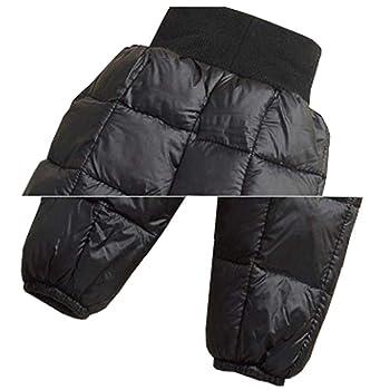 Baby Elastic Snow Pants Kids Boys Girls Waterproof Windproof Lightweight Warm Down Pants,1-5Y