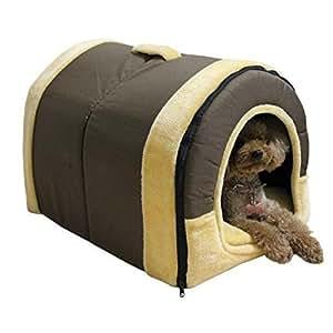 Upspirit Arc Pet House Puppy Dog Cat Warm House Detachable Washable Bed Soft Pad Brick Pattern