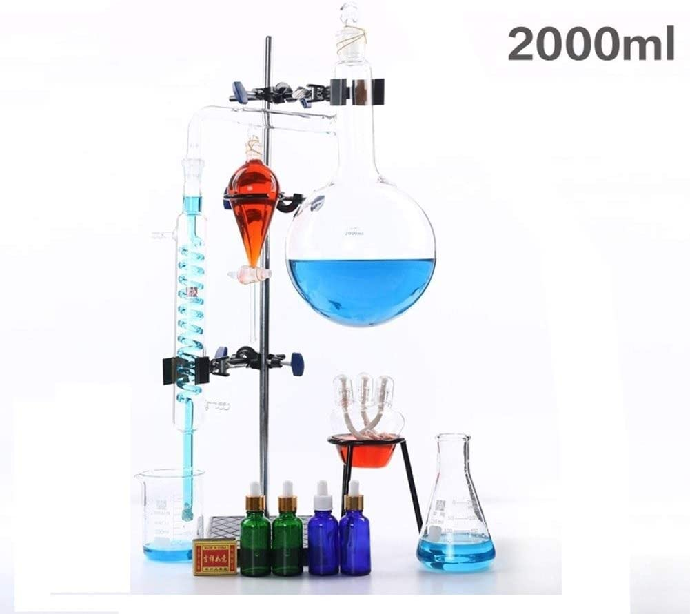 SHUYY 2000ml Lab Esencial Aparato de destilación de petróleo ...