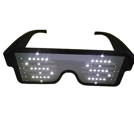 Caeasar Traje Luminoso Luminoso Intermitente Gafas de Sol Gafas de ...