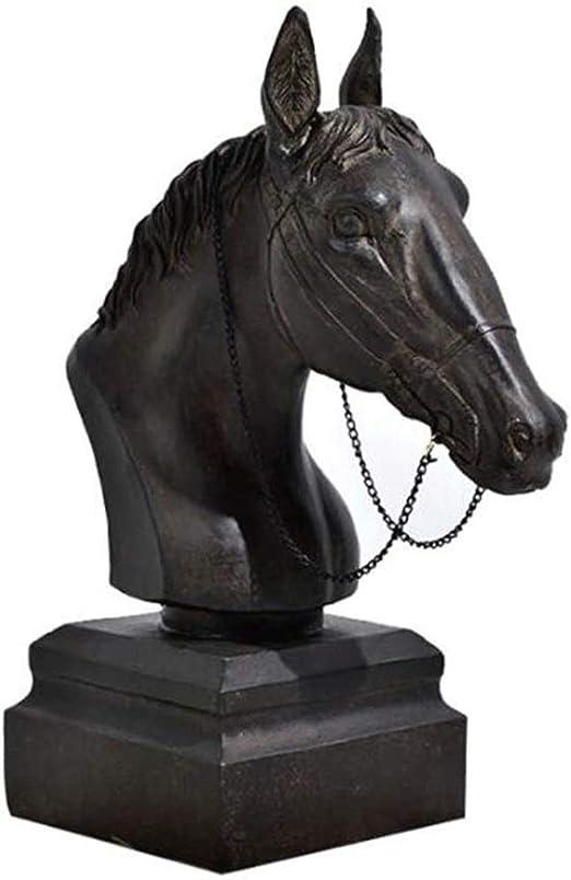 Sculpture de d/écoration Design Statue T/ête de Capricorne 47 x 15 x 15 cm Hansmeier Sculpture de Table Argent