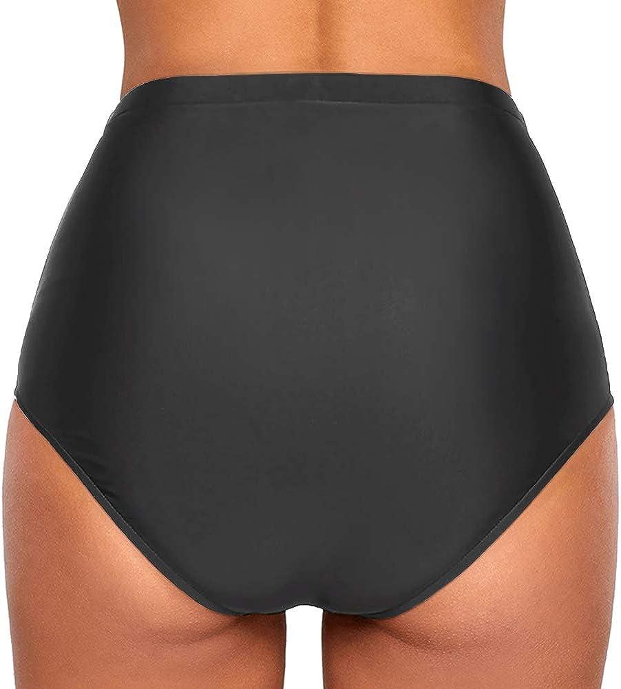 Slip da bikini da donna vita alta per nuoto Ecute