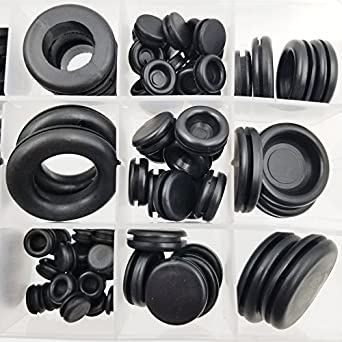RUBBER GROMMET CABLE GROMMET FOR CHASSIS HOLE *VARIOUS SIZES* Assorted Box 250Pc