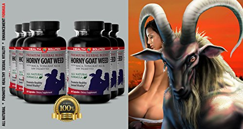 Saw palmetto with nettle root - HORNY GOAT WEED - enhance sex drive (6 bottles) by Health Solution Prime