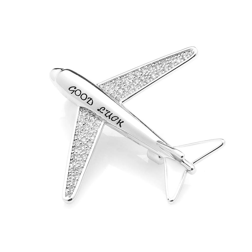 Amazon.com  WULI   BABY Copper Sparkling Airplane Brooches Aircraft Good  Luck Brooch Pins  Jewelry a286e159855d
