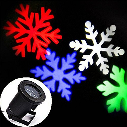 [OPAI Multi-colored Moving Snowflake Spotlight LED Landscape Projector Lights for Christmas Holiday Home Decoration Wall Motion Decoration Indoor Outdoor] (Hallowen Contact Lenses)