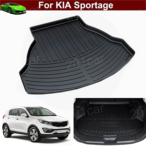 1pcs Leather Car Boot Liner Rear Trunk Cargo Mat Trunk Tray Trunk Cargo Liner Mat Cargo Tray Floor Mat Custom Fit for KIA Sportage 2009 2010 2011 2012 2013 2014 2015 2016 2017 2018 2019