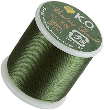 Ko abalorios hilo de nylon japonés color verde oliva 50 M carrete: Amazon.es: Hogar