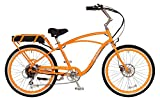 "Pedego Comfort Cruiser 26"" Classic Orange with White Wall Tires 36V 15Ah"