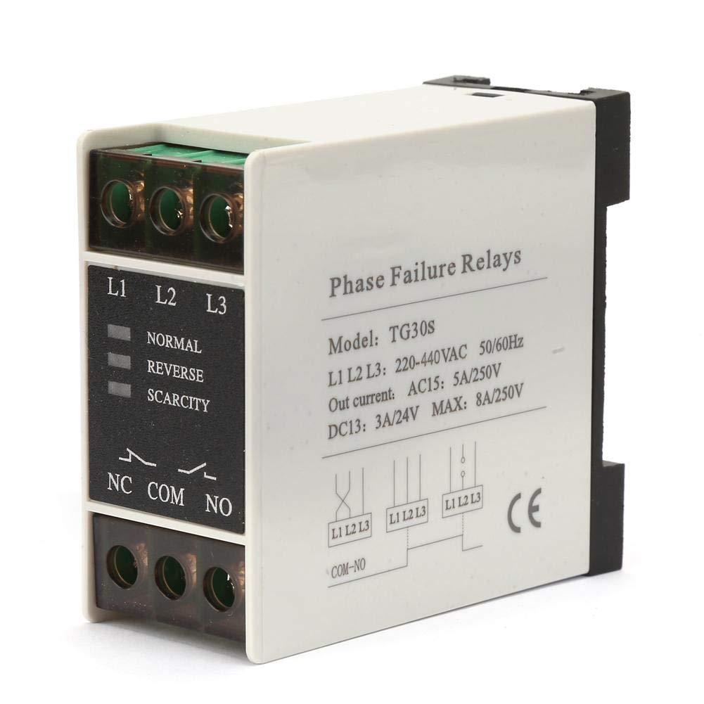 AC 220-440V Phase Sequence Protector,Mini 3-Phase Sequence Relay Protector Voltage Phase Protective Relay