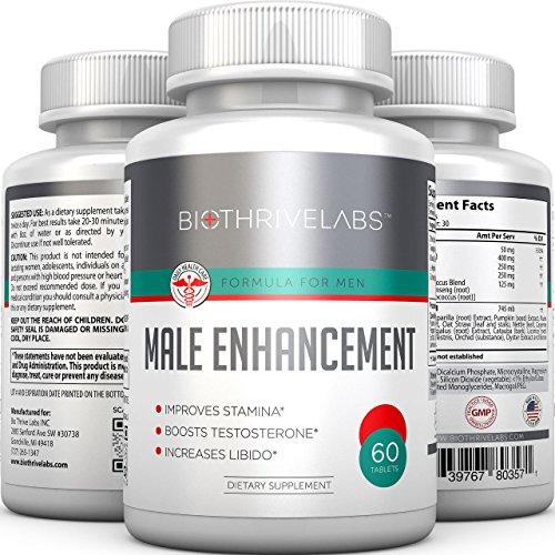 Pills puissance extrême Male Enhancement - 60 comprimés de fines herbes Supplément & Libido Booster: suralimente la production de testostérone, Élimine la dysfonction érectile, soutient la croissance du pénis, améliore Endurance & Endurance. Pas d'effets