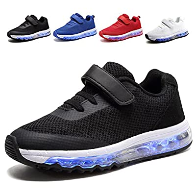 EQUICK Air Cushion Led Light Up Shoes Fashion Breathable Sneaker for Boys Girls(Toddler/Little Kid)