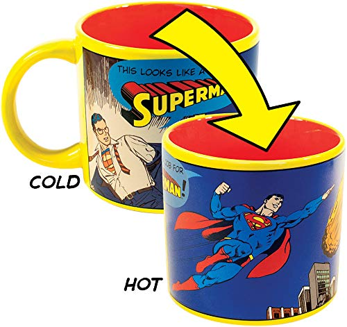 Job for Superman Heat Changing Mug - Add Coffee or Tea and Clark Kent Transforms into The Man of Steel - Comes in a Fun Gift Box]()