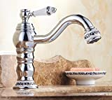 AWXJX European style hot and cold swivel Raised height gold plated Single Hole Sink mixer