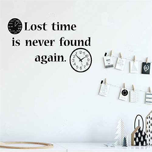For sale pertiu Vinyl Peel and Stick Mural Removable Decals Lost time never found again