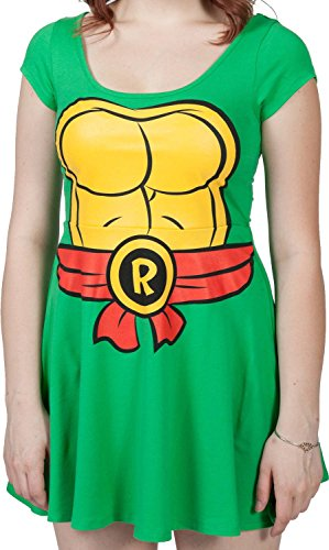 Tmnt Raphael Skater Dress (Teenage Mutant Ninja Turtles I Am Raphael Women's Skater Dress, Small)