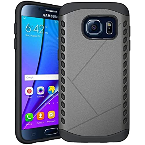 Galaxy S7 case, MOACC Shock Absorbent Sheild [Grey] [Dual Layer Armor] Hybrid Hard PC Defender Rugged Shockproof Sales