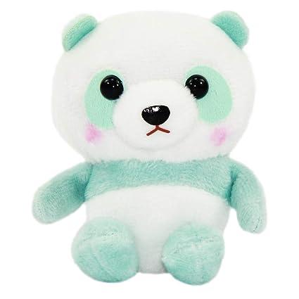 Amazon.com: Panda - Peluche de peluche, color blanco y verde ...