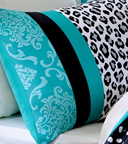 Home Style Teen Girls Bedding Damask Leopard Comforter