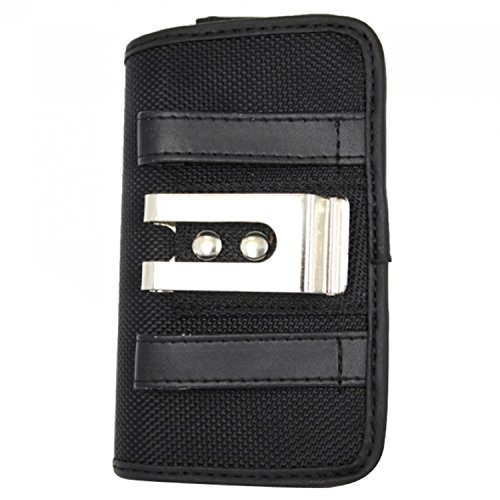 Zizo Premium Horizontal Canvas Pouch with Velcro and Belt Loops for iPhone 6 Plus - Retail Packaging - Black