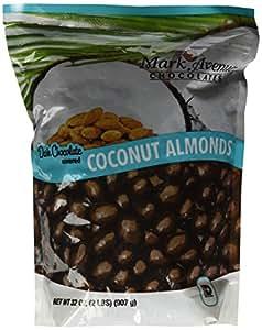 Mark Avenue Chocolates DARK CHOCOLATE COCONUT ALMONDS 32 oz (2LBS) Bag