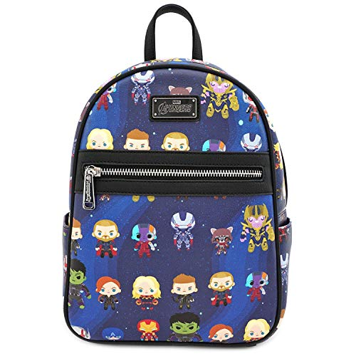 Loungefly Marvel The Avengers Chibi All Over Print Mini Backpack - MVBK0065