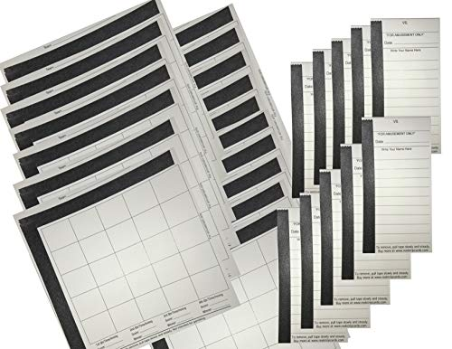 Football Squares Boards & 10 Line Strip Card Combo Includes (20) 25 Square Football Sheets Boards & (10) 10 Line Football Strip Cards, Perfect for Football Pools, Fundraising - Ball Strip