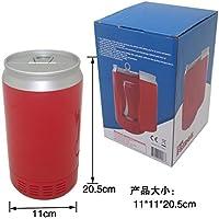 SL&BX Réfrigérateur à boissons,Usb fridge mini fridge refrigeration and heating compact-refrigerators can beverage cooler mini dorm small fridge freezer-red 11x11x20.5cm(4x4x8inch)