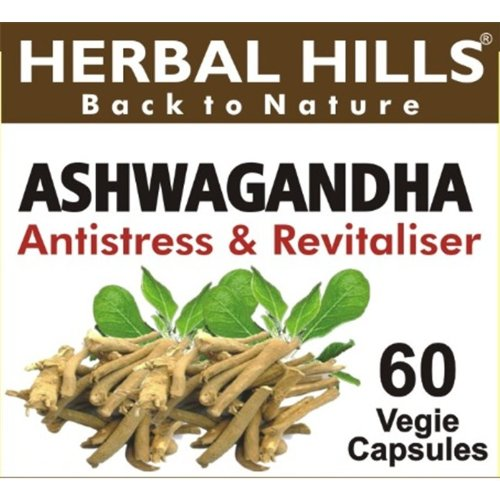 Ashwagandha  60 Veg Capsules for Vitality Support, Immune System, Improve Memory