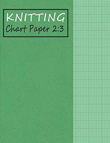 (Knitting Chart Paper 2:3: Blank Graph Notebook Ratio 2:3 - Green (Knitting Paper – Foam Texture))