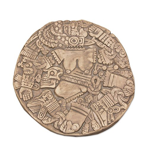 Moon Goddess Art - NOVICA Ceramic Archaeological Decorative Plaque Wall Art, Grey 'Aztec Moon Goddess'