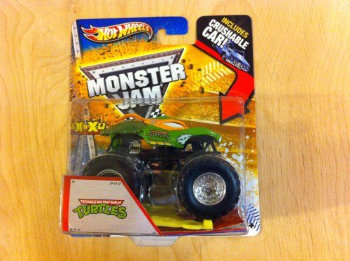 (Hot Wheels Monster Jam Teenage Mutant Ninja Turtles Max-D Includes Crushable)