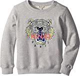 Kenzo Kids Girl's Sweat Classic Tiger (Big Kids) MARL Grey 8A