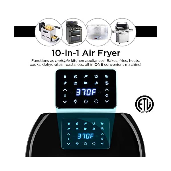 Best Choice Products 16.9qt 1800W 10-in-1 XXXL Family Size Air Fryer Countertop Oven, Rotisserie, Dehydrator w/Digital… 4