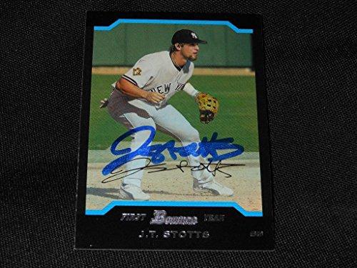 2004 Bowman Autographs - New York Yankees JT Stotts Signed 2004 Bowman Autograph Card #244 TOUGH 113