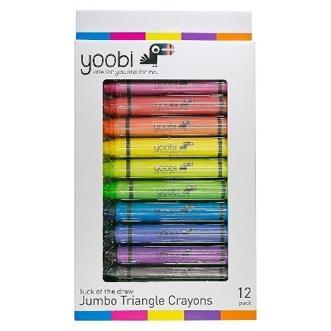 Yoobi Jumbo Triangle Crayons Pack of 12