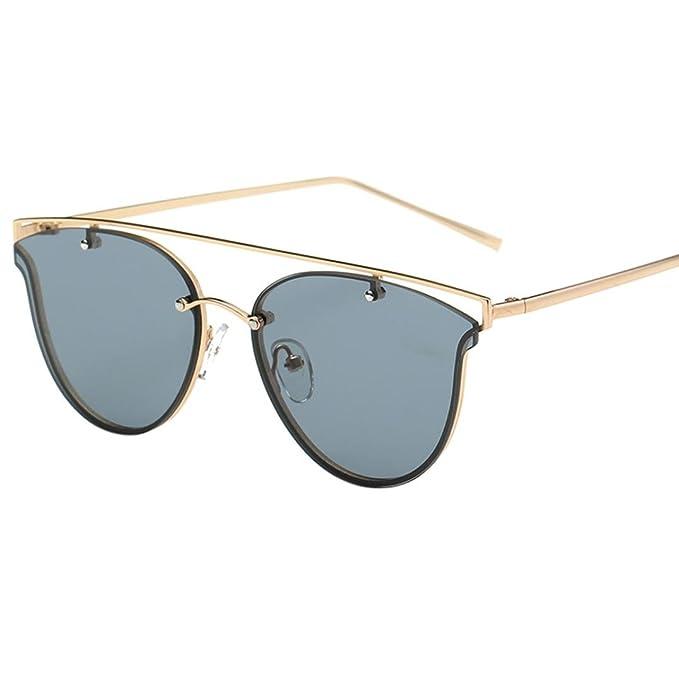 Culater® Occhiali da sole donne del gatto di modo struttura del metallo degli occhiali da sole di marca Classic Tone Specchio (Giallo) TrF8rb92R