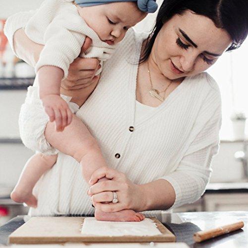 Baby Bubzi Co Baby Handprint Kit & Footprint Photo Frame For Newborn Girls And Boys